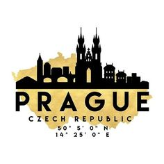 PRAGUE CZECH REPUBLIC SILHOUETTE SKYLINE MAP ART Photographic Prints ❤ liked on Polyvore featuring home, home decor, wall art, map wall art, silhouette wall art, map home decor and skyline wall art