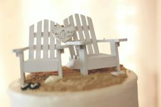 These white Adirondack chairs are perfect for a beach wedding,destination or Key West style wedding. PLEASE NOTE:The small flip flops shown in the image are not included and I do not sell them.This listing is for the chairs and sign ONLY.The images were sent to me by a customer and