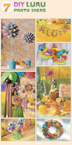 National Luau Month - 7 DIY Luau Party Ideas at OrientalTrading.com