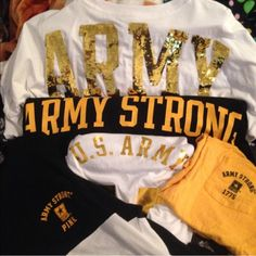 ‼️ISO‼️ VS US ARMY LOOKING TO BUY/TRADE VS US ARMY CLOTHING XS-L PINK Victoria's Secret Tops Sweatshirts & Hoodies