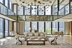 Lobby at The Langham, Chicago. Photo by Mike Schwartz.