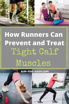 Tight calf muscles are a common problem among runners. Here's how to prevent and treat tight calves, to keep running strong and injury-free. Get calf stretches and other strategies to avoid calf pain. Running For Beginners, Running Tips, Running Training, Running Routine, Race Training, Half Marathon Training, Marathon Running, Best Calf Stretches, Calve Stretches