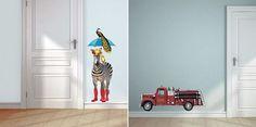 Voor de babykamer of kinderkamer: leuke muurstickers van VAN IKKE. Super origineel. Gespot op: http://babykamer-jongen.nl/leuke-muurstickers/