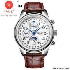 c037309c52a Perpetual Calendar 4 Hands Auto Mechanical Wristwatch   mensluxurywatchesperpetualcalendar Wrist Watches