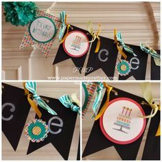 stampin up chalk board banner - Google Search