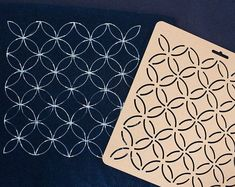 Sashiko Embroidery Pattern THEALESE Sashiko Stencils by Acrylic 01 9 Types Quilting Stencils