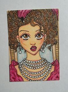 ATC ACEO Anna Karenina Original Art work drawing