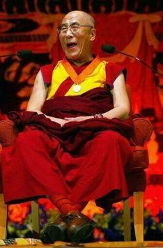 Posted by United Nations For a Free Tibet His Holiness The Dalai Lama Buddha Buddhism, Tibetan Buddhism, Reiki, Positive People, Happy People, Nice People, Charlie Chaplin, 14th Dalai Lama, Tibet