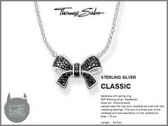 Thomas Sabo - Fall 2012 - Classic Collection - Pavé Bow Necklace (Black)