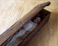 Antique Late 1800's Charles Marsh Wax Doll In Original Box