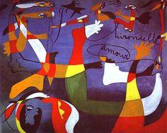 Joan Miro Most Famous Painting | Joan Miró Art Gallery: Joan Miró art: Swallow-Love.