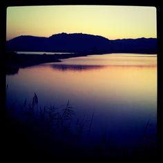 sunset over nora lagoon