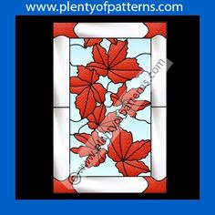 Stained Glass Patterns for Instant Download :: Maple Leaves Stained Glass Pattern 2021
