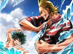 Boku no Hero Academia || All Might, Midoriya Izuku, My hero academia #mha