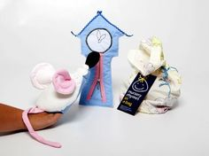 Hickory Dickory Dock hand puppet, story bag - Puppets in a bag