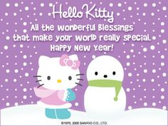 hello kitty happy new years