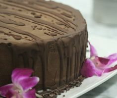 #Raw Triple Layer Cacao Cake. Could this be heaven? I wonder if you could substitute carob for something less acidic?
