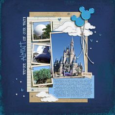 The most magical place on earth (of course).  #scrapbooking
