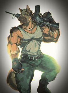 Yiff Furry, Anime Furry, Warrior Cats Fan Art, Anime Dad, Werewolf Art, Samurai Tattoo, Character Design, Animals, Furry Art