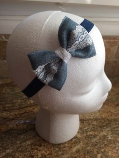 A personal favorite from my Etsy shop https://www.etsy.com/listing/271285129/light-blue-denim-hair-bow-headband-or