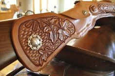 Leather rifle scabbards by Blake Underwood
