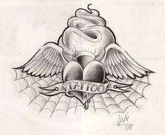 All About Art Tattoo Studio Rangiora Upstairs 5 Good Street, Rangiora. North Canterbury New Zealand. 03 310 6669 or 022 125 7761 Heart Tattoo Designs, Tattoo Design Drawings, Tattoo Sketches, Badass Drawings, Easy Drawings, Random Drawings, Loyalty Tattoo, Chicano Style Tattoo, Blue Rose Tattoos