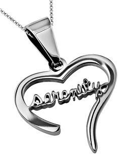 'Serenity' - Handwriting Heart Necklace on SonGear.com - Christian Shirts, Jewelry