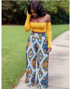 Your place to buy and sell all things handmade - African wide leg trouser African womens pant Ankara wide leg African Fashion Ankara, Ghanaian Fashion, African Inspired Fashion, Latest African Fashion Dresses, African Print Fashion, African Women Fashion, Modern African Fashion, British Fashion, Africa Fashion