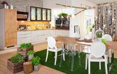 Kuchyně Cora Divoký dub a písková.  #kuchyne #kitchen #modernibydleni #modernikuchyne #drevenekuchyne