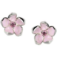Shaun Leane Cherry Blossom Rhodalite Earrings ($264) ❤ liked on Polyvore featuring jewelry, earrings, accessories, brinco, metallic, sterling silver post earrings, metallic jewelry, cherry blossom jewelry, shaun leane and cherry blossom earrings
