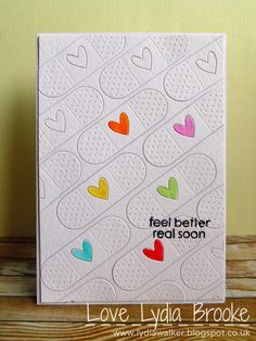Love Lydia Brooke: Sensational Sunday Blog Hop At Loves Rubberstamps - Paper Smooches Band Aids Die & Salutations Stamp Set