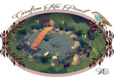 The Sims 4 | Daer0n: Carefree Koi Pond 2t4 conversion | buy mode functional new objects garden fishing