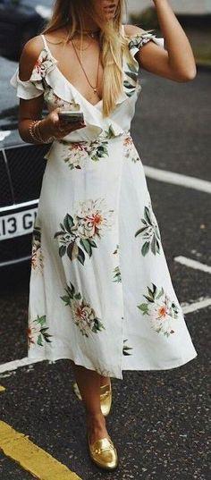 #summer #fashion / white dress