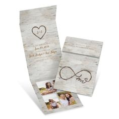 Love for Infinity Fold Up Save the Dates at Invitations By Dawn
