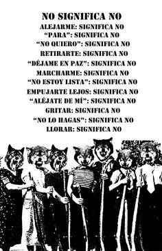 Muchos MACHOS aún no comprenden el significado de un NO!! #SomosIguales