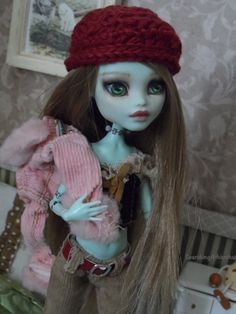 """ Emma "" 49 00 Custom Monster High OOAK Doll Reroot Outfit Repaint | eBay"