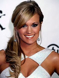 Will it fall flat? :  wedding curls hair ponytail side pony Carrie Underwood Side Ponytail