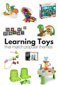 Find the best learning toys for all sorts of popular preschool themes! Great learning toys that promote fine motor, gross motor, even literacy! Find the best learning toys for all sorts of pop Preschool Behavior, Fall Preschool, Preschool Lesson Plans, Preschool Themes, Preschool Toys, Preschool Classroom, Circle Time Activities, Graphing Activities, Alphabet Activities