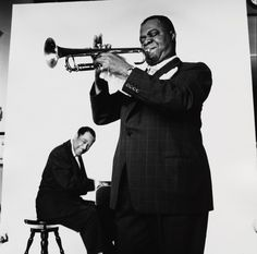 Irving Penn - Duke Ellington and Louis Armstrong (2 of 3) , New York, 1955 Gelatin silver print © The Irving Penn Foundation