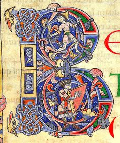 """B"". English Psalter after 1073. Arundel 60 BL"