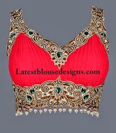 Bridal Saree Blouse, Blouse Designs For Lehengas, Deep Back Neck Blouse, Blouse Front Neck Patterns, Saree Blouse Patterns, Sari Blouse Designs, Bridal Blouse Designs, Beautiful Blouses, Beautiful Saree, Indian Dresses, Indian Outfits, Saree Jackets, Indian Blouse