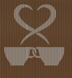 Cut And Fold Book folding pattern of Love Coffee by BookArtCo