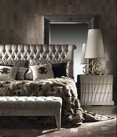roberto cavalli home silver white black bedroom @Roberto Cavalli