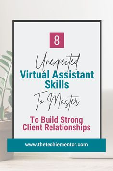 Do you know which Virtual Assistant soft skills you need to be even more successful? What I call soft skills are really people skills and learning these 8 skills is something all virtual assistants should master. It's all about building and maintaining strong relationships with our clients. For more tips on building and growing a successful virtual assistant business follow me @thetechiementor.