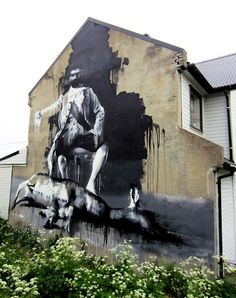 After recently painting pieces in London and Italy, Conor Harrington has now made his way to Norway for the Urban Art Festival, Komafest! Grafitti Street, Graffiti Murals, Pictures To Paint, Painting Pictures, Drip Painting, Land Art, Art Festival, Street Artists, Urban Art