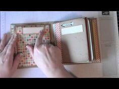 Retro Fresh mini album.  Stampin' Up! supplies and tutorial from MySistersScrapper on Youtube