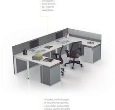 Linha Pluri - ambiente gerência e staff | Bortolini