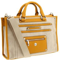Knomo London - Havana Tote Laptop Bag (Natural/Yellow) - Bags and Luggage on shopstyle.com