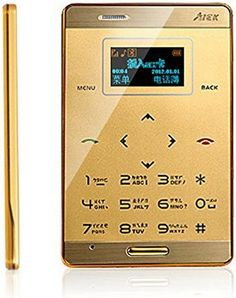 katito AiEK M3 Mini Pocket Ultra Slim OLED Cell Mobile Phone GSM M3 MP3 Bluetooth Card Size (Gold) - For Sale Check more at http://shipperscentral.com/wp/product/katito-aiek-m3-mini-pocket-ultra-slim-oled-cell-mobile-phone-gsm-m3-mp3-bluetooth-card-size-gold-for-sale/