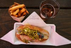 Brat and Duck Fat Fries, LowBrau, Sacramento | Food and Drink Travel | Fake Food Free